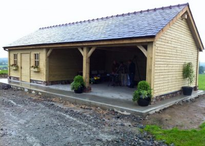 Log Cabin & Garage with Car Port